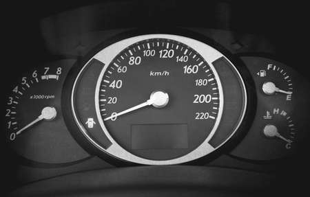 odometer: Car instrument panel