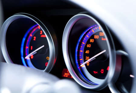 Car instrument panel photo