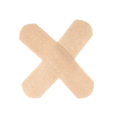 Band aids  on white background Imagens