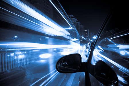 speedy: car fast drive at night