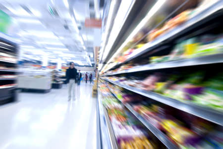 substance: move in the supermarket  Stock Photo