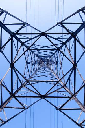 electric grid: metal electricity pylons