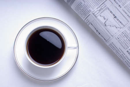 exceeds: In the morning coffee and reading newspaper