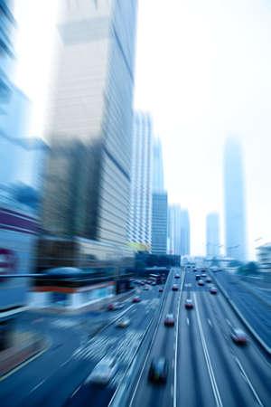 car rushing on the street in motion blur  Standard-Bild