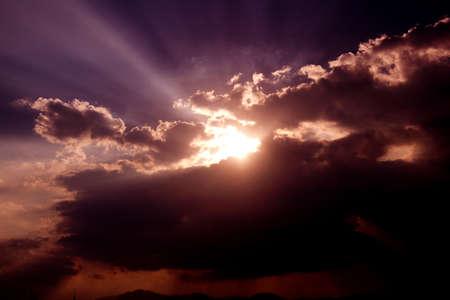 sun rays Standard-Bild