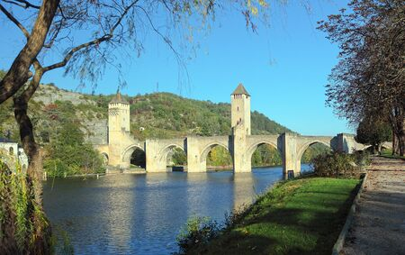Medieval Valentre bridge in Cahors