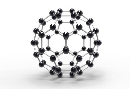 Computer rendering of a C60 fullerene molecule
