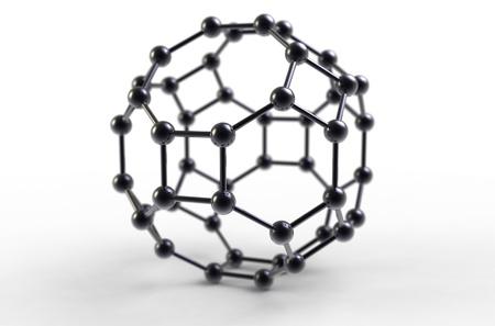 Computer rendering of a C48 fullerene molecule photo