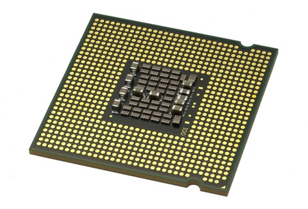 Computer processor isolated on white background
