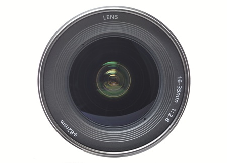 Front view of a wide angle camera lens Banque d'images