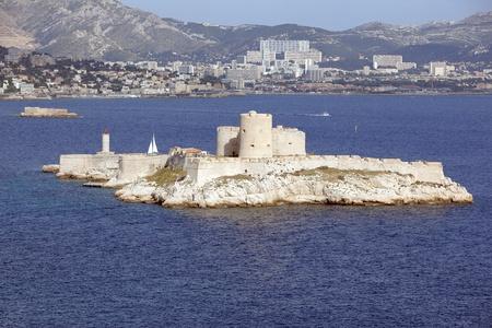 castle if: If Island and Monte Cristo castle in Marseille Stock Photo