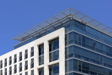 steel building: Facade of a modern building in Marseille La Joliette
