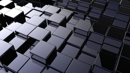 unendlich: Abstrakt Array von Shinny W�rfel der unterschiedlichen H�he