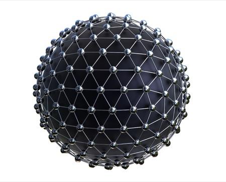 rendu 3D du concept de r�seau mondial isol�e sur fond blanc