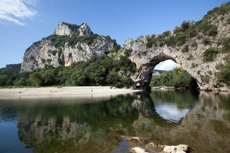 Pont d Arc arch in southern France Stock Photo - 10708129