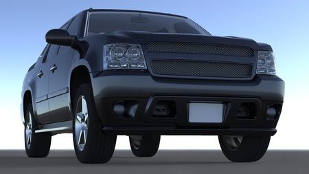 Grand luxe sombre 4x4 v�hicule rendu 3d Banque d'images