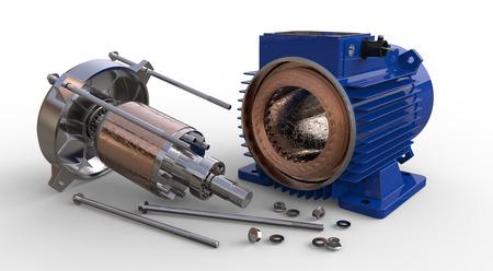 the coil: Inaugurado motor el�ctrico aislado en fondo blanco