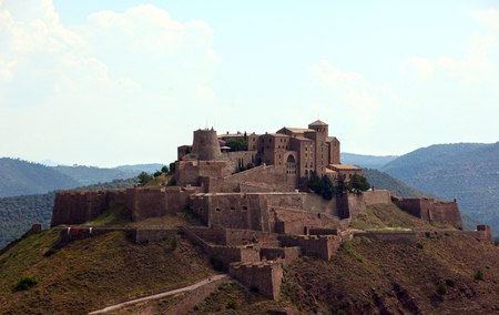 Entire view of Cardona castle in northern Spain