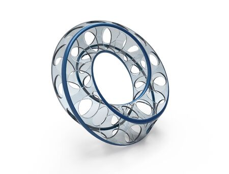 mobius loop: Moebius ring look alike shape on white background