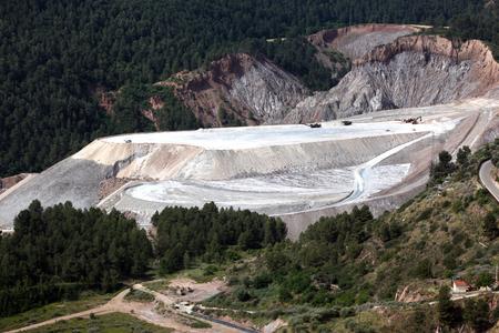 Extraction in outdoor salt mine in northern Spain