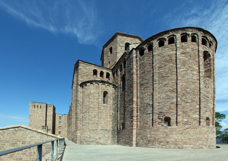 Inside view of Cardona medieval castle in Spain Editorial