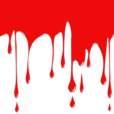 halloween background: Abstract white background with red drops of paint or blood.