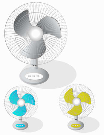 formats: Vectors fan, made in different colors.file in different formats