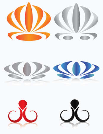 Set of graphic elements.Vector to the logo, business cards. Icons. Stock Vector - 5295281