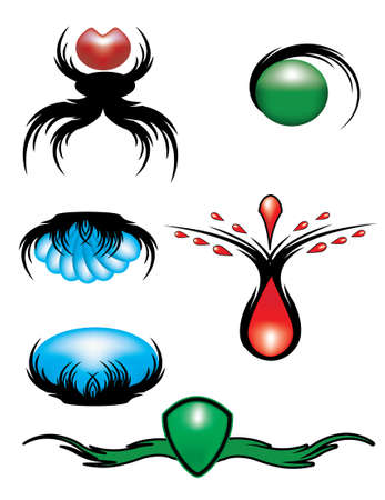 Set of graphic elements.Vector to the logo, business cards. Icons. Ilustracja