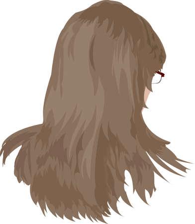 peluca: vectores de cabello de las mujeres Vectores