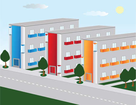 urban area:   Vector image of the urban area Illustration