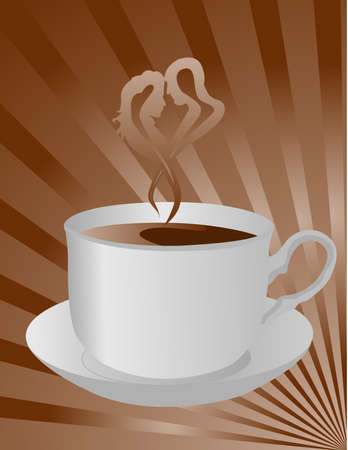 Coffee design, vector image of a cup of delicious coffee Vector