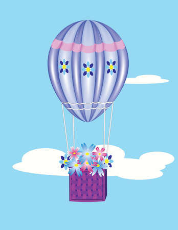Vector image of a balloon with flowers for your design Vector