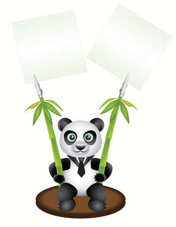 Vector Image pegs paper in the form of pandas Stock Vector - 5431771
