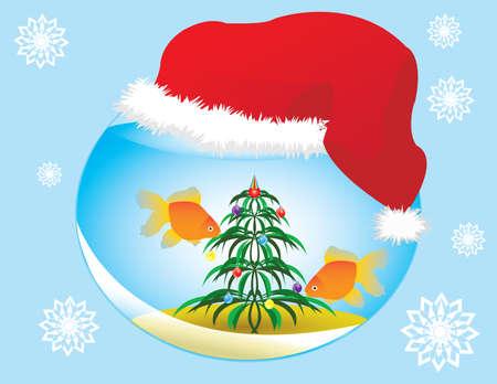 Christmas Aquarium Vector