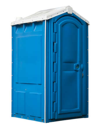 moveable: public toilet isolated on white Stock Photo