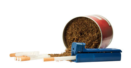 habitual: Device for packing cigarettes and tobacco liners.