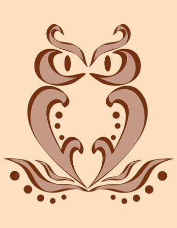 Vector, an abstract image of an owl Vector