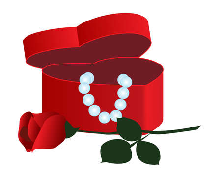 casket:   Casket in a heart-shaped jewels and roses.