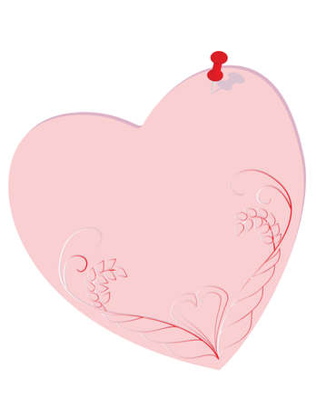 Paper records in a heart-shaped. Vector