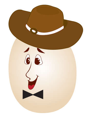 Easter egg in the hat Vector