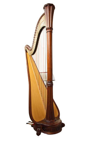 Harp, isolated on a white background photo