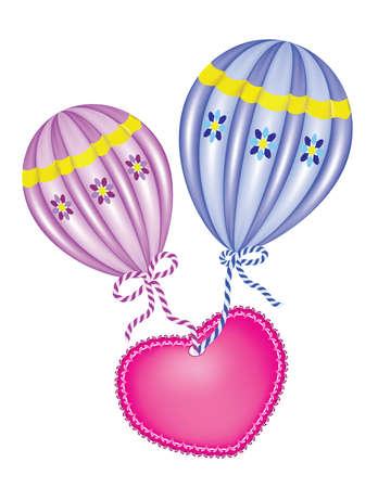 aeronautical: Hot Air Balloons  Illustration