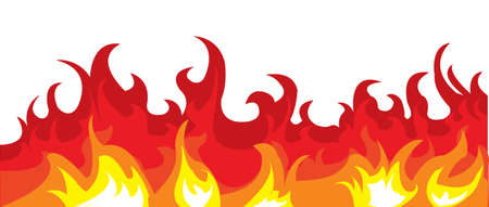 rod sign: image of a burning fire. Illustration