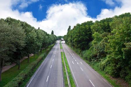 Motorway in the city. photo