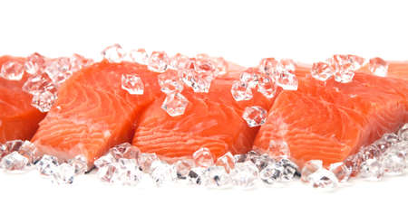 seafood dinner: salmon on ice