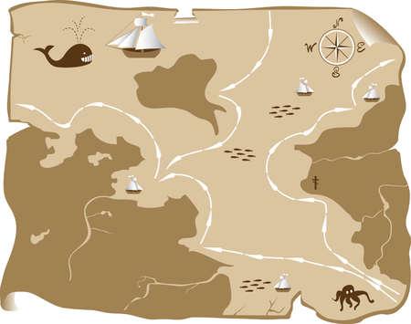 Abstract map Ilustração