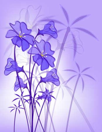 floral border frame: floral pattern  Illustration