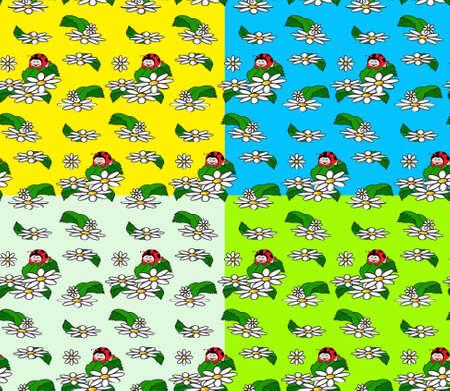 Ladybird seamless  Vector