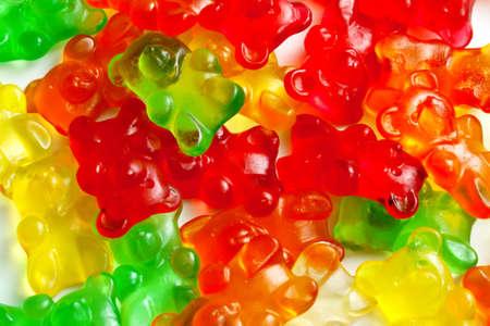 Background of gummi bears Stock Photo
